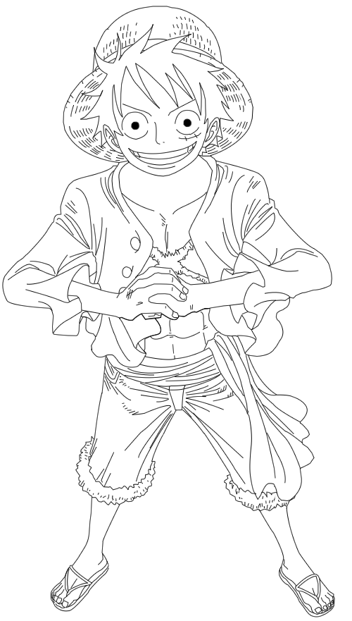 Luffy Lineart : Luffy line art by tyson on deviantart