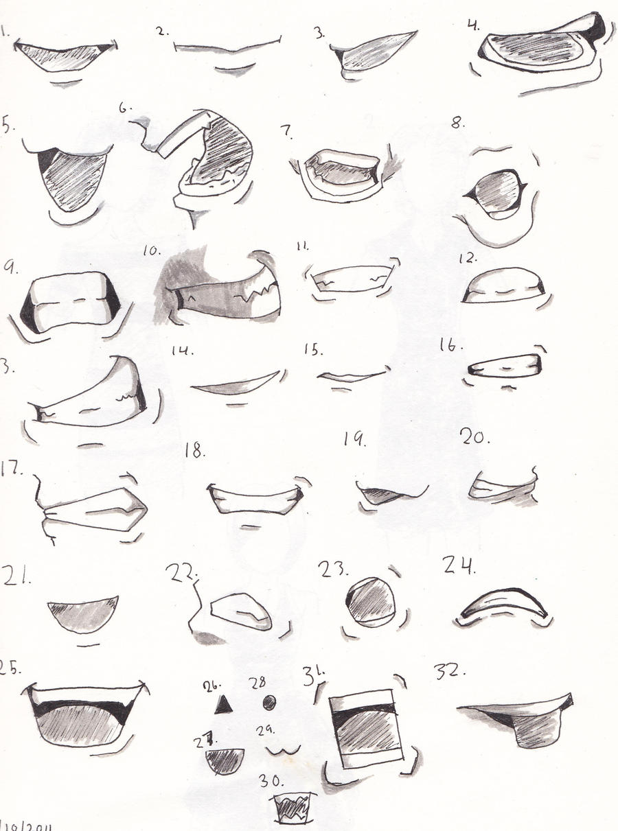 how to draw a cartoon girl mouth