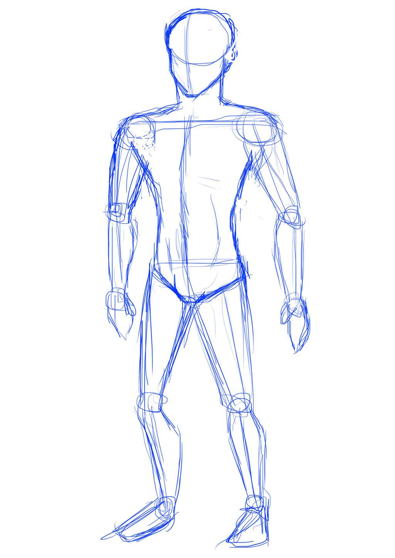 Guy Body Sketch By Pinkdog004 On DeviantArt