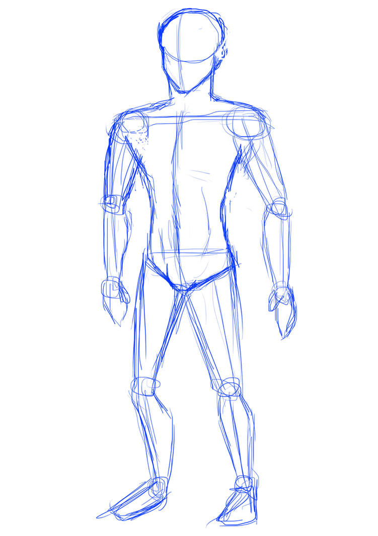 how to begin a body sketch