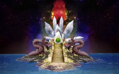 Crystal Dragon Island by ajcates