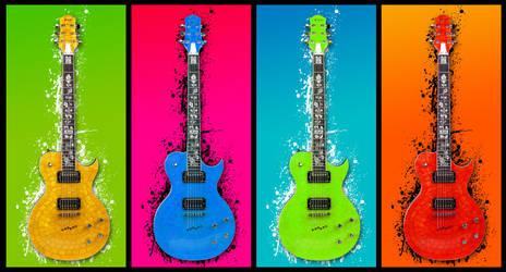 Popart Guitar Splat by andrewackroyd
