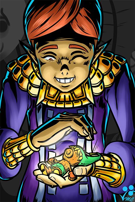 Fan Art - Happy Mask Salesman by Linkakami