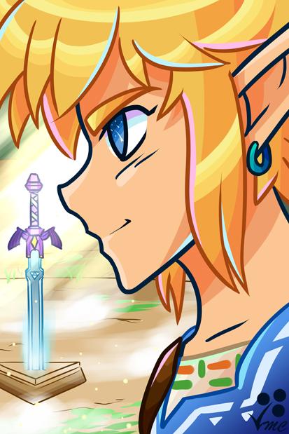 Fan Art - BotW Link by Linkakami