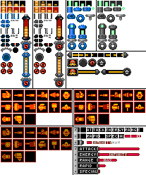 8-bit Mega Man Legends HUD and Extras by Elmind