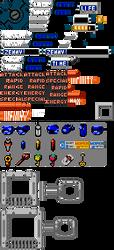 8-bit Mega Man Legends Menu Objects 'n Improvement by Elmind