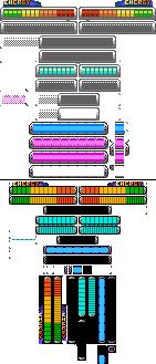 8-bit Mega Man Power Fighters Hud by Elmind