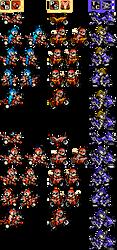 Mega Man, Proto Man and Bass's bikes by Elmind