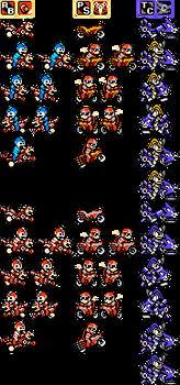 Mega Man, Proto Man and Bass's bikes