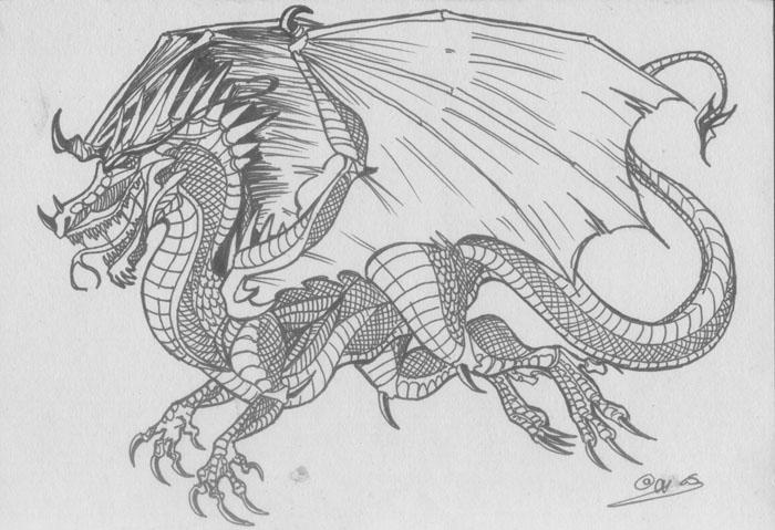 Random Dragon Work by blackheartedhate