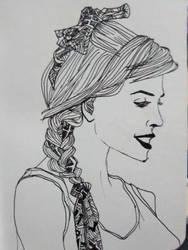 Echarpe no cabelo by KarenSayuri