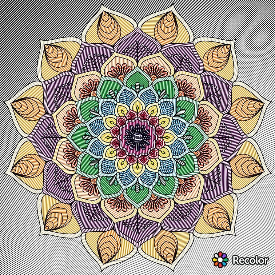 Recolor Flower Mandala 2 by xXN0toriousXx