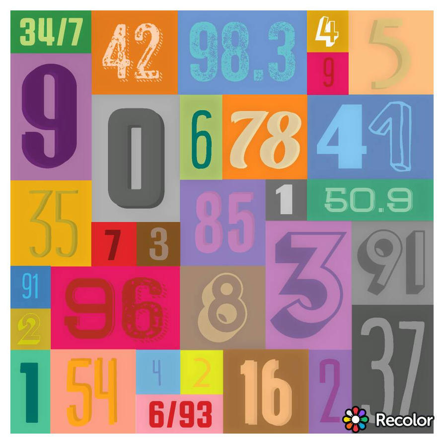 Recolor Retro Numbers by xXN0toriousXx