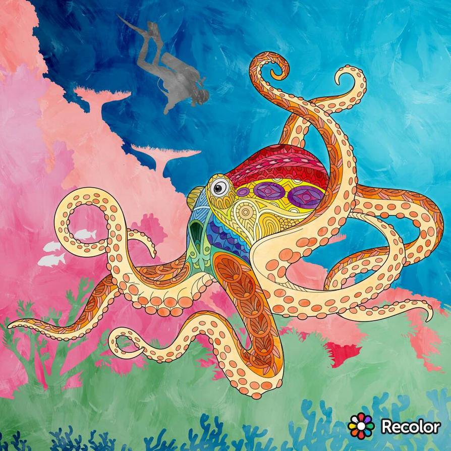 Recolor Octopus by xXN0toriousXx