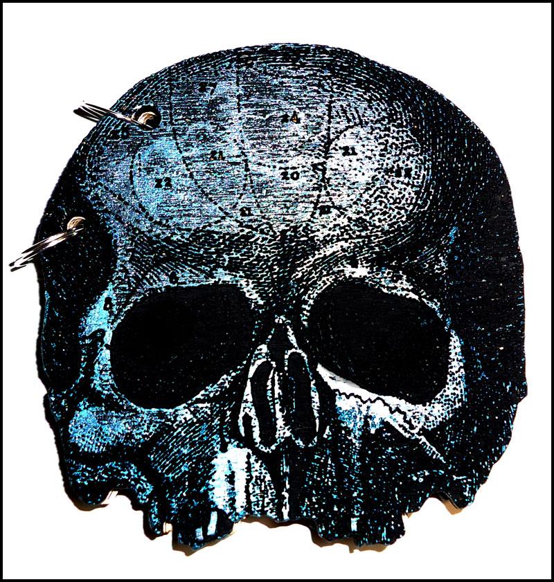 skull notebook custom colour by bleedsopretty