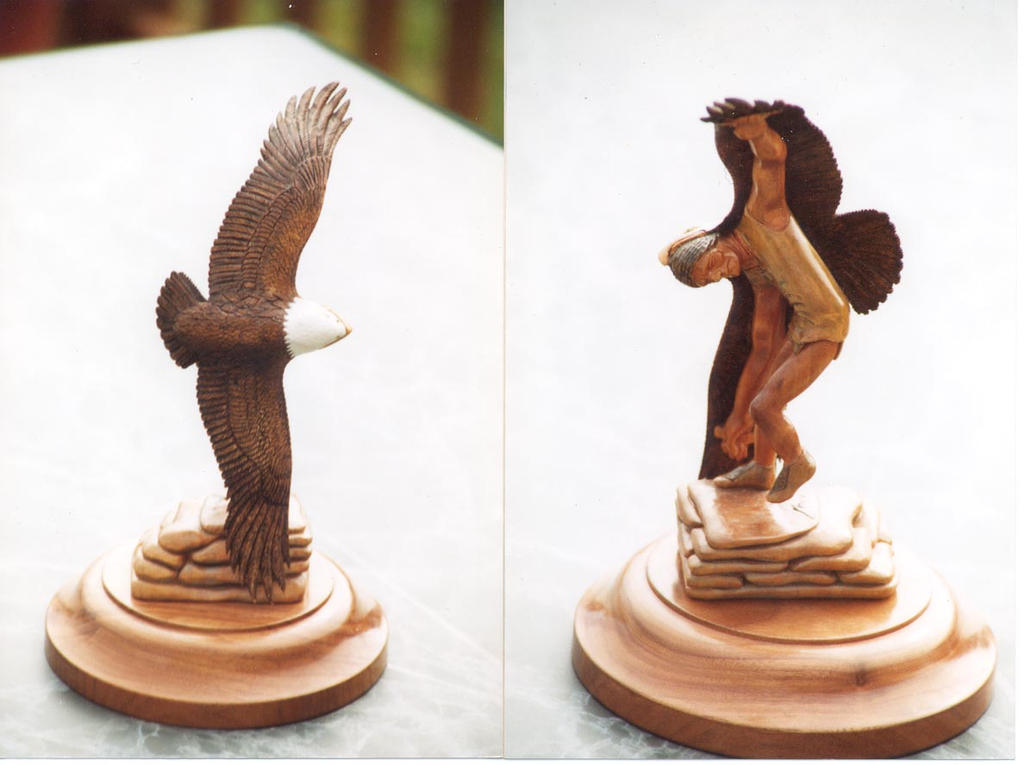 Eagle Dance by NMWoodcarver