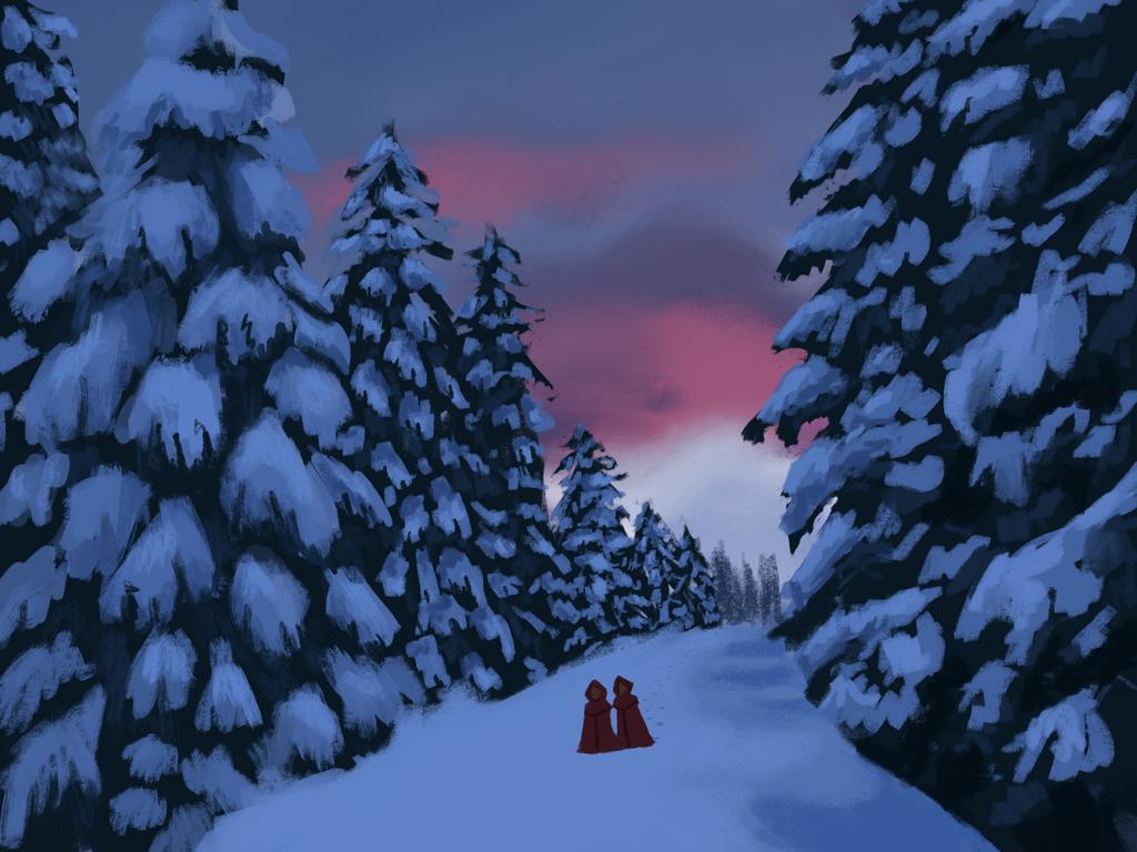 Snowy Scene Study by Paloma-McClain