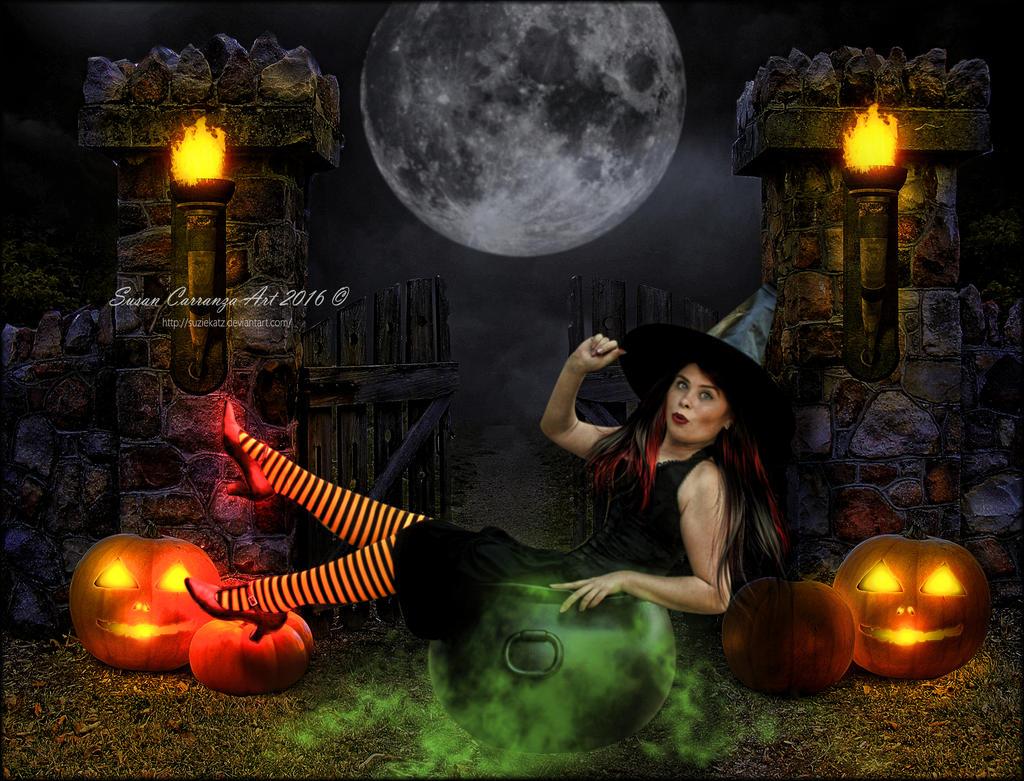 Halloween Antics by SuzieKatz