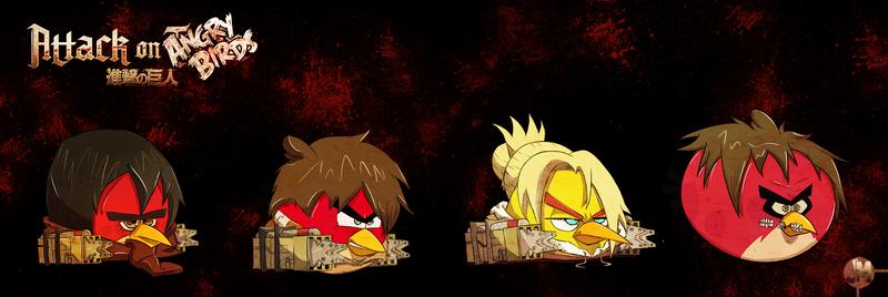 Attack On Angry birds! by jeffreymunoz