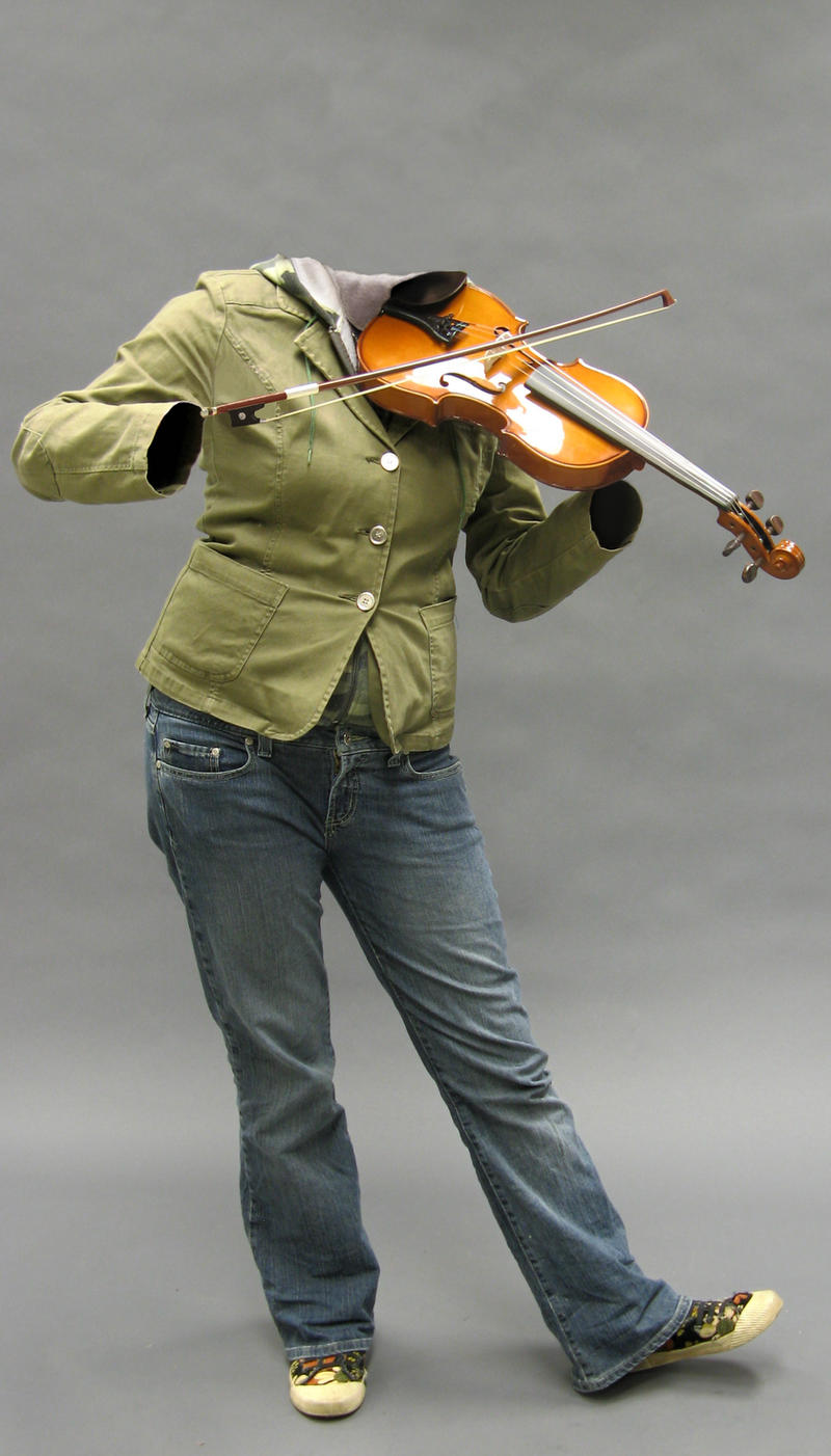 Invisible Violinist by Lelalay