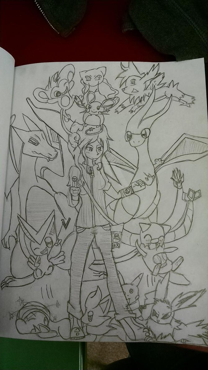 Pokemon fan art one by Kittyskittles
