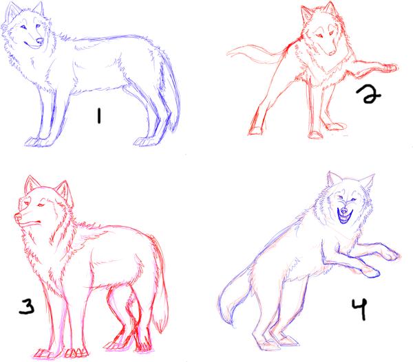Sketchy wolf poop - redlines please? :D by uotterbe