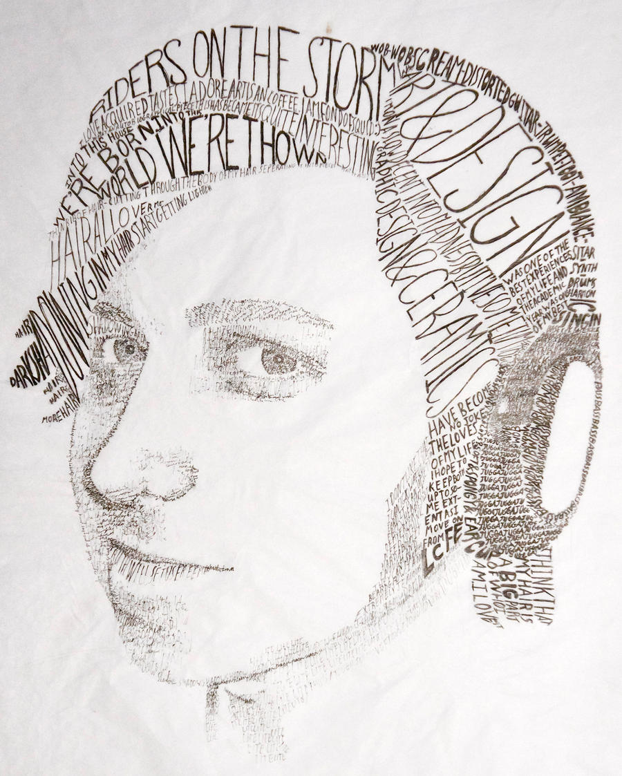 Typography portrait by bloodypinata