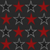 Red and Black Star Pattern by JonesPatterns
