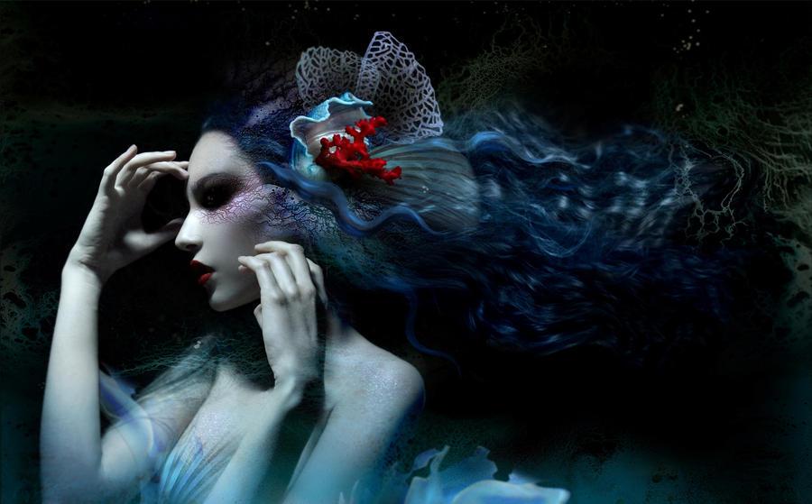 Dark Mermaid Art mermaid by dihaze