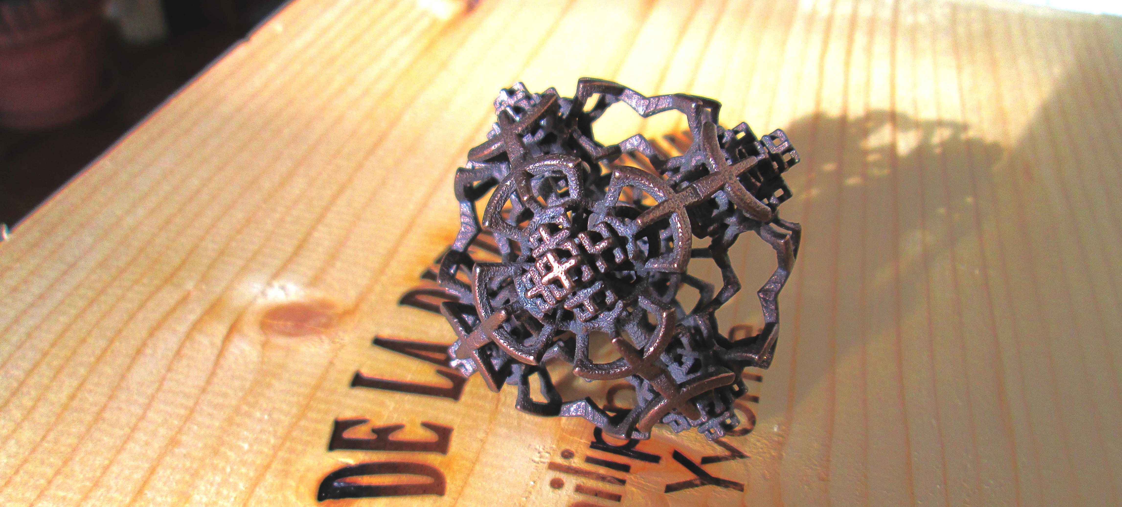 Fractal 3D Printed Steel