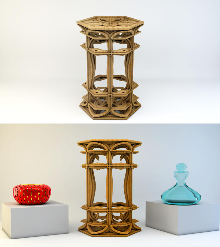 Table Fractal 3D by nic022