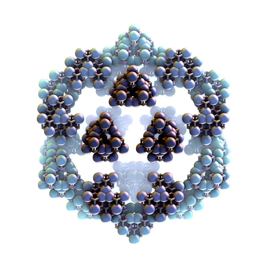 Blue molecules in my brain by nic022