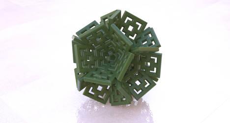 DECO FRACTAL 3D Print Model by nic022