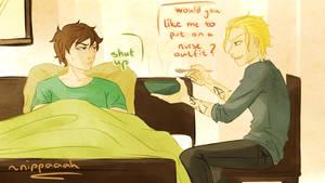 Request: Jace and sick!Simon