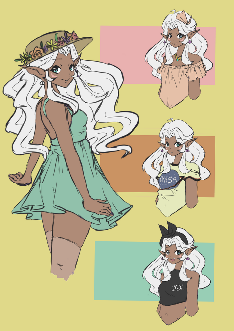 Allura + Some Summer Outfits by leafpoolTC