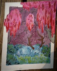 Deer by leafpoolTC
