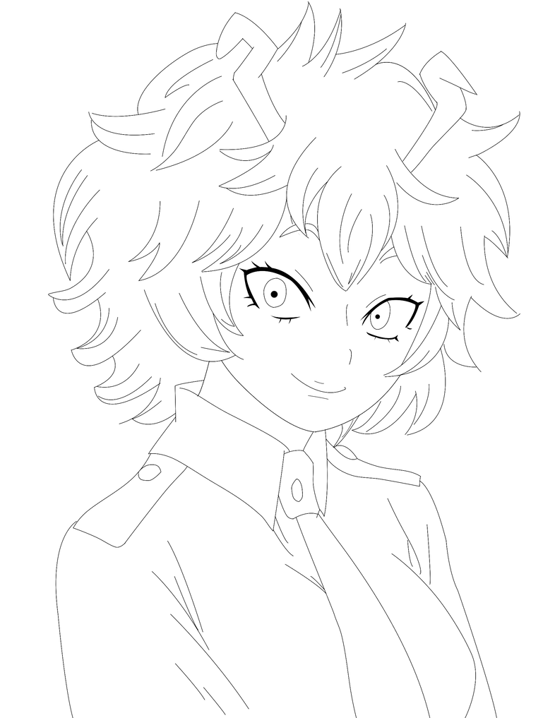 ashido lineart by BErnADCL