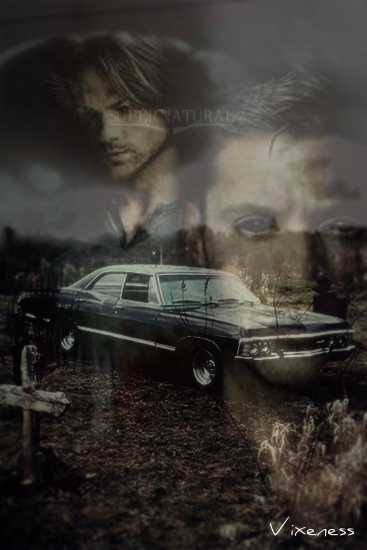 Supernatural 67 chevy impala iphone wallpaper by by - Supernatural phone background ...