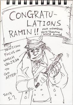 20140507 Congrats Ramin 4 2014 Theatre World Award