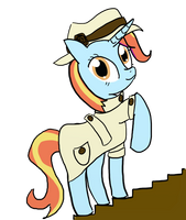 How I imagine Sassy Saddles as teen by LAuthheure