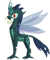 MLP Fusion #10 : Chrysalis + Ember by LAuthheure