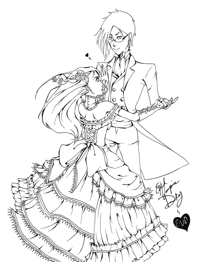 Line Drawing Dancer : Dancing the night away lineart by evilvampireducky on