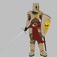 Paladin of Pelor (Flat Color) by CandyKappa