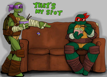 TMNT - That's MY spot by CandyKappa
