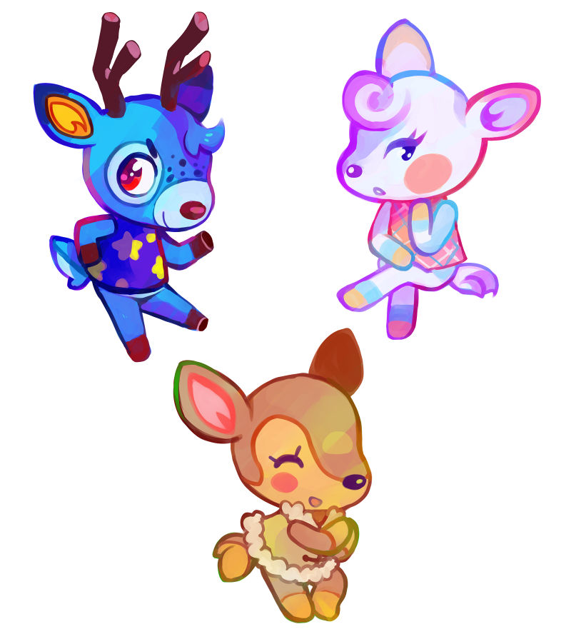animal crossing villagers deer