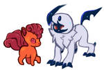 Vulpix and absol