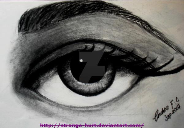 SaD eye 2 by strange-hurt