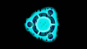 Ubuntu Wallpaper (Bright Logo on Dark Binary 4k)