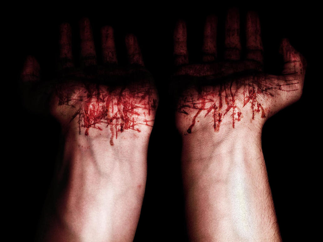 Blood on my hands... by qaz3d on DeviantArt