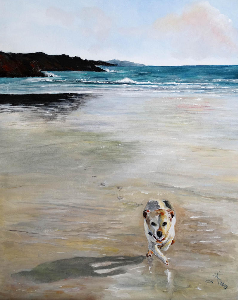 A walk on the beach by Buble